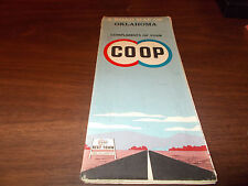 1960 Co-Op Oklahoma Vintage Road Map