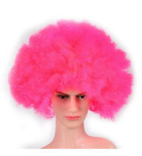 70's, 80's Neon Pink Giant Afro Wig For Festivals, Hen Parties, Fancy Dress