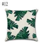 Tropical Plant Parrot Bird Cotton Linen Pillow Throw Case Cushion Cover 45cm