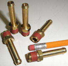 Brass Port to Hose Adapter 1/4 Beaded Hose  x 1/8 NPT Male  27 TPI  PACK of 5