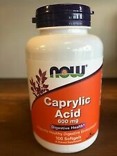 Caprylic Acid 600 mg 100 Softgels By Now Foods Digestive HEALTH