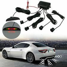 Junsun 4 Car Reversing Parking Sensors Kit Buzzer Audio Alarm LED Display Black