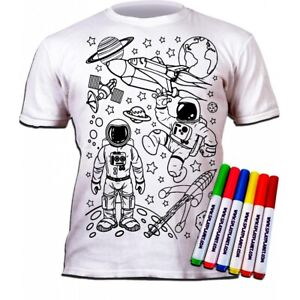 "Colour in T-Shirt ""Space"" for 9-11 years"