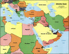 1990+Political+CIA+Map+of+the+Middle+East+with+Capitals+11%22x14%22+Print+Decor