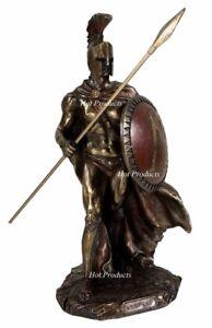 LEONIDAS Greek Warrior SPARTAN KING Statue Spear Hoplite Shield -SUPERIOR FINISH