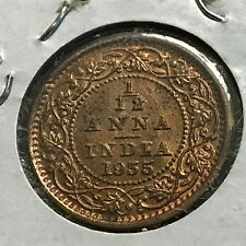 1935-C INDIA 1/12 ANNA BRILLIANT UNCIRCULATED BRONZE COIN
