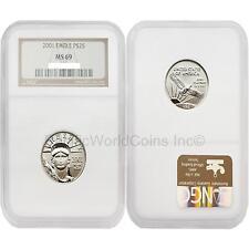 USA 2001 Eagle $25 1/4 oz Platinum NGC MS69