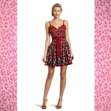 BETSEY JOHNSON Engineered Floral Corset Fit & Flare DRESS size XS ~ Retail $128