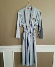 Vintage Tommy Hilfiger Cotton Womens Striped Light Weight Belted Robe Long Large