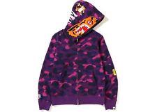 4b30a0c5 Bape Purple Color Camo Tiger Full Zip Hoodie (FW18) Purple Size Large