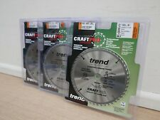 3 X TREND 165MM 48T TCT 20MM BORE SAW BLADES BOSCH GKT55 PLUNGE SAW CSB/16548C