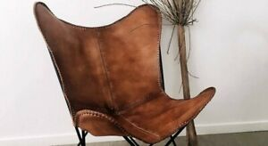 Retro Handmade Indian Cow Leather Butterfly Chair Handmade Chair {Only Cover}