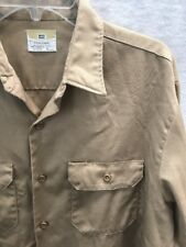 Vintage BIG MAC work shirt army twill khaki penneys 50/50~Super Klondike Jr.~Lrg