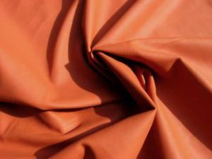 Lambskin sheepskin leather hide skin Pumpkin Orange glove soft 1.5oz  Rare Color