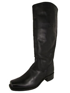$378 Frye 150th Anniversary Womens Cavalry Riding Boots, Black, US 9