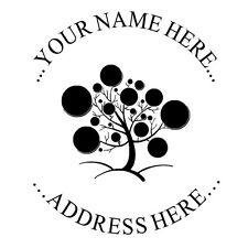 Pretty Ball Tree Custom Round Return Business Address Self Inking Rubber Stamp