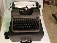 Vintage 1948 Underwood Portable Champion Typewriter Touch Tuning Wrkg. Very Nice