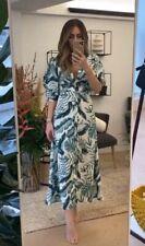 BNWT H&M Johanna Ortiz Linen Leaf Print Dress, UK 10 EU 38 US 6 SOLD OUT Blogger
