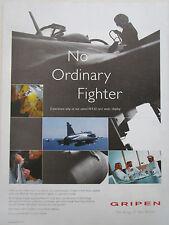 12/2003 PUB SAAB SWEDEN JAS 39 GRIPEN FIGHTER ORIGINAL AD