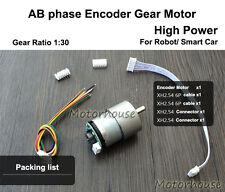 High Power Metal Gear Motor DC 5v Encoder 390P/R Getriebemotoren Smart Car Robot