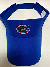 Florida Gators Heat Applied Applique Logo on Royal visor cap hat! Adjustable!