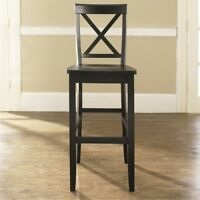 X-BACK BAR STOOL IN CLASSIC CHERRY FINISH WITH 30 INCH SEAT HEIGHT.   (SET OF...