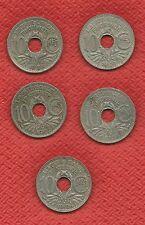***    5 x 10 Centimes     1924 - 1931 - 1932 - 1935 - 1936    Lindauer   ***