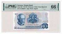 NORWAY banknote 10 Kroner 1983 PMG MS 66 Gem Uncirculated