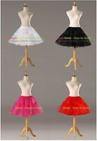 Crystal Yarn Above Knee Length Cocktail Prom Crinoline Petticoat Slip Skirt TUTU