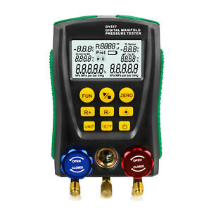 Refrigeration Digital Manifold Gauge HVAC Vacuum Pressure Temperature Tester