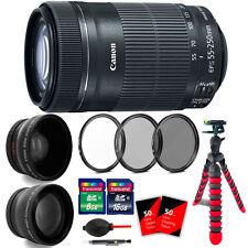 Canon EF-S 55-250mm f/4-5.6 IS STM Lens with 58mm Filter Lens Kit for T2i T4i T5