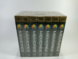 Memorex T-60 Blank VHS Tape 7 Pack 3 Hrs Max Sealed