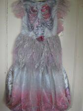 GIRLS HALLOWEEN SKELETON BRIDE COSTUME/FANCYDRESS CHILDS 7-8 YEARS NEW BNWT