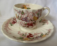 Vintage Copeland Spode Fairy Dell Floral Tea Cup And Saucer