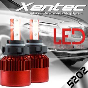 XENTEC LED 6000K Foglight 5202 12086 H16 2007-2016 Chevrolet Silverado 2500 HD