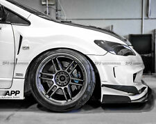 New 2Pcs Front Fender Vented Body Kits For Honda FD2 Feeds Style Carbon Fiber