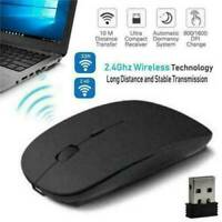 2.4GHz Wireless Optical Mouse USB Rechargeable RGB Cordless Mice For PC Laptop ·