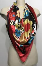 Huge Floral Red Shawl/scarf/wrap Shiny Woman Accessories