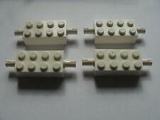 Lego 4 essieux blancs set 6854 6982  / 4 white brick modified