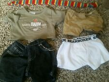 Build A Bear Lot Clothes Denim shorts boxers shirt scarf