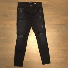 Level 99 Tanya High Rise Skinny Distressed Stretch Denim Jeans Woman's Size 31