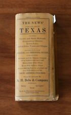 New Listing1912 Hammond Portable Fold Up Map of Texas. See pics.