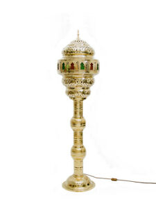 Moroccan Brass Floor Lamps - Different Size & Colour Options -Electrically Wired