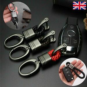 Men Metal Leather Car Keychain Keyring Purse Bag Key Chain Ring Keyfob FashikY