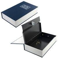 Secret Dictionary Book Safe Hidden Security Cash Money Box Jewellery Lock