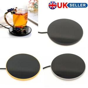 USB Electric Cup Heating Coaster Warmer Coffee Tea Milk Mug Heater Home Office