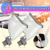 2X Portable Unisex Potty Pee Funnel dult Urinal Stand UP Car Toilet Outdoor   -