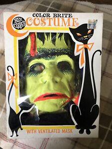 Vintage Color Bright Ben Cooper FRANKENSTEIN Monster Costume Mask  Halloween