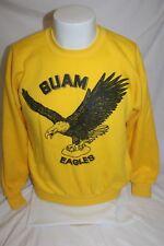 Vintage Guam Eagles Yellow Sweater Size Small Guahan Hafa Adai