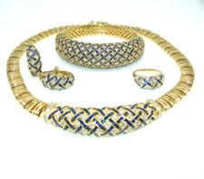 Diamanten-Halsketten & Anhänger mit Saphir Brillantschliff